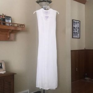 White Rayon Summer Dress
